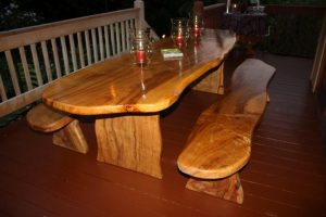 Luau Table and Benches 9' Long