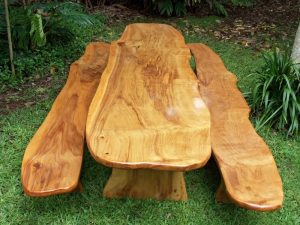 Luau Table and Benches Montezuma Cypress