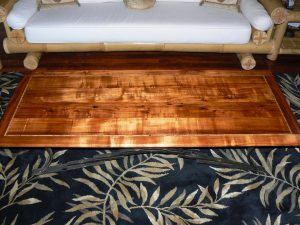 "Koa Coffee Table with Mango Inlay 70"" x 28.5"""