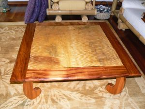 Mango Coffee Table, Koa Trim