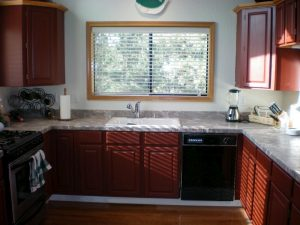 Painted Oak Cabinets Truckee, California